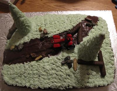 4 wheeler cake