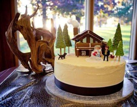 Ski Chalet Wedding Cake