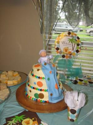 Baby Shower Cake for a Boy
