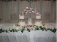 Bridge of Roses Wedding Cake