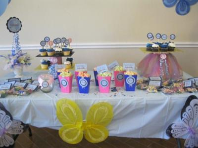 Butterfly theme cake table