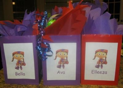 Super Why goody bags