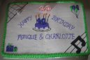 Twins 40th Birthday Cake
