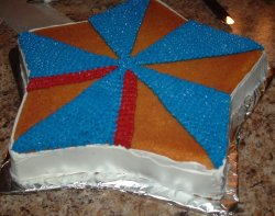 Icing The July 4th Cake