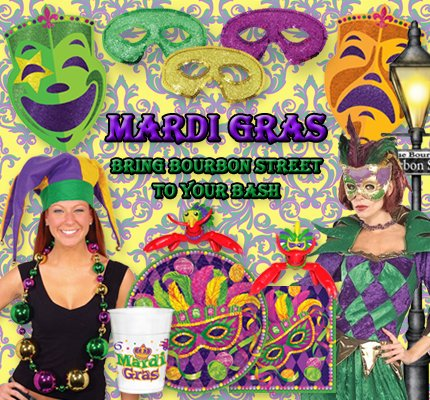 Mari Gras Party Supplies