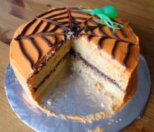 The Middle of the Spider Web Cake