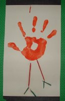 Hand painted Thanksgiving Turkey Craft